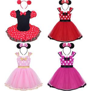 Enfants-Filles-Pour-Bebe-Minnie-Mouse-Costume-Fete-Robe-Tutu-Bandeau