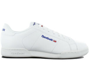 81b464eccbd80 Reebok Classic Npc II Trainers Shoes Leather White Sneakers Leisure ...