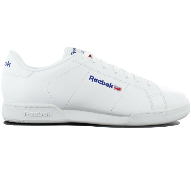 a1c5313342366 Reebok Classic Npc II Trainers Shoes Leather White Sneakers Leisure 1354 New