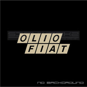 Details About Olio Fiat Decal Sticker Italy Racing Abrath 500 500 595 Rally Fiat Pair