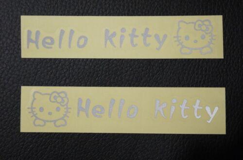 4X Hello Kitty Logo Car Truck Door Handle Sticker Decal Decor