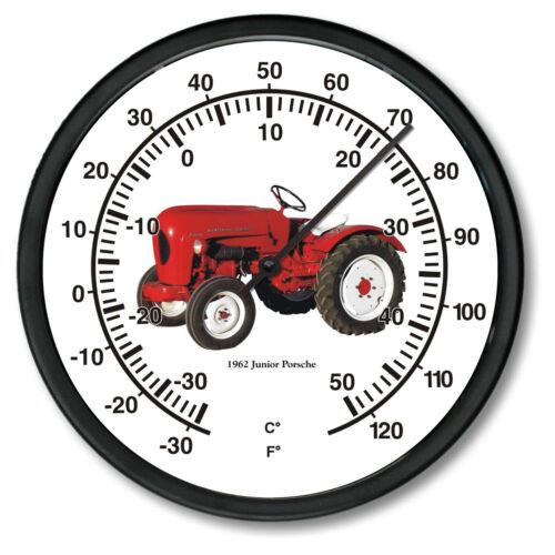 "New PORSCHE JR Tractor Thermometer 10/"" Round 1962 Vintage Junior Farm Vehicle"