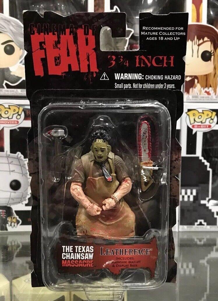 Mezco Cinema of Fear 3 3  4 65533 Die'553333e; läderface new  Sällsynta Texas Chainsaw Massacre