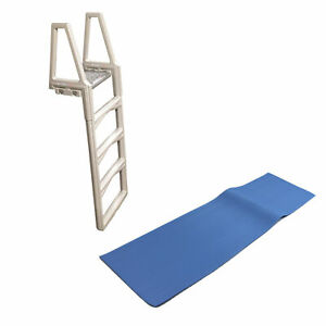 """CONFER 635-52 Adjustable In-Pool Above Ground Swimming Pool Sturdy Ladder 48-56/"""""""