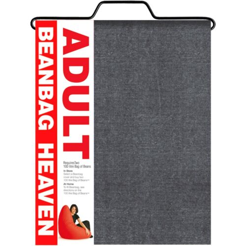 GREY colour Denim print Adult bean bag