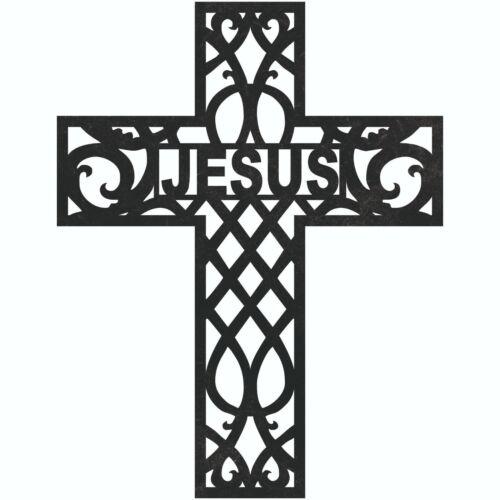 Jesus Cross Sign Plasma Laser Waterjet Router Plotter Cut Vector CNC Clip art