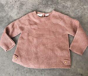 Zara Baby Knitwear Kids Girls Pink Knit Sweater 92 cm / 18 ...