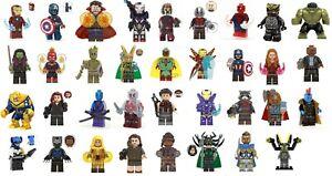 Figurine-AVENGERS-Ironman-Spiderman-Thor-NEUF-Minifig-Type-LEGO