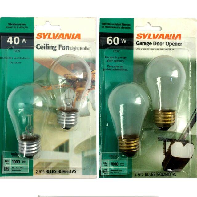 Sylvania 16069 Incandescent 60w A15 Clear Fan Lamp Intermediate Base 120v