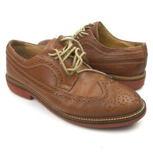 cd86b7a2a4d Nordstrom 1901 Men s Leather Shoes Brown Kyle Longwing Wingtip Size ...