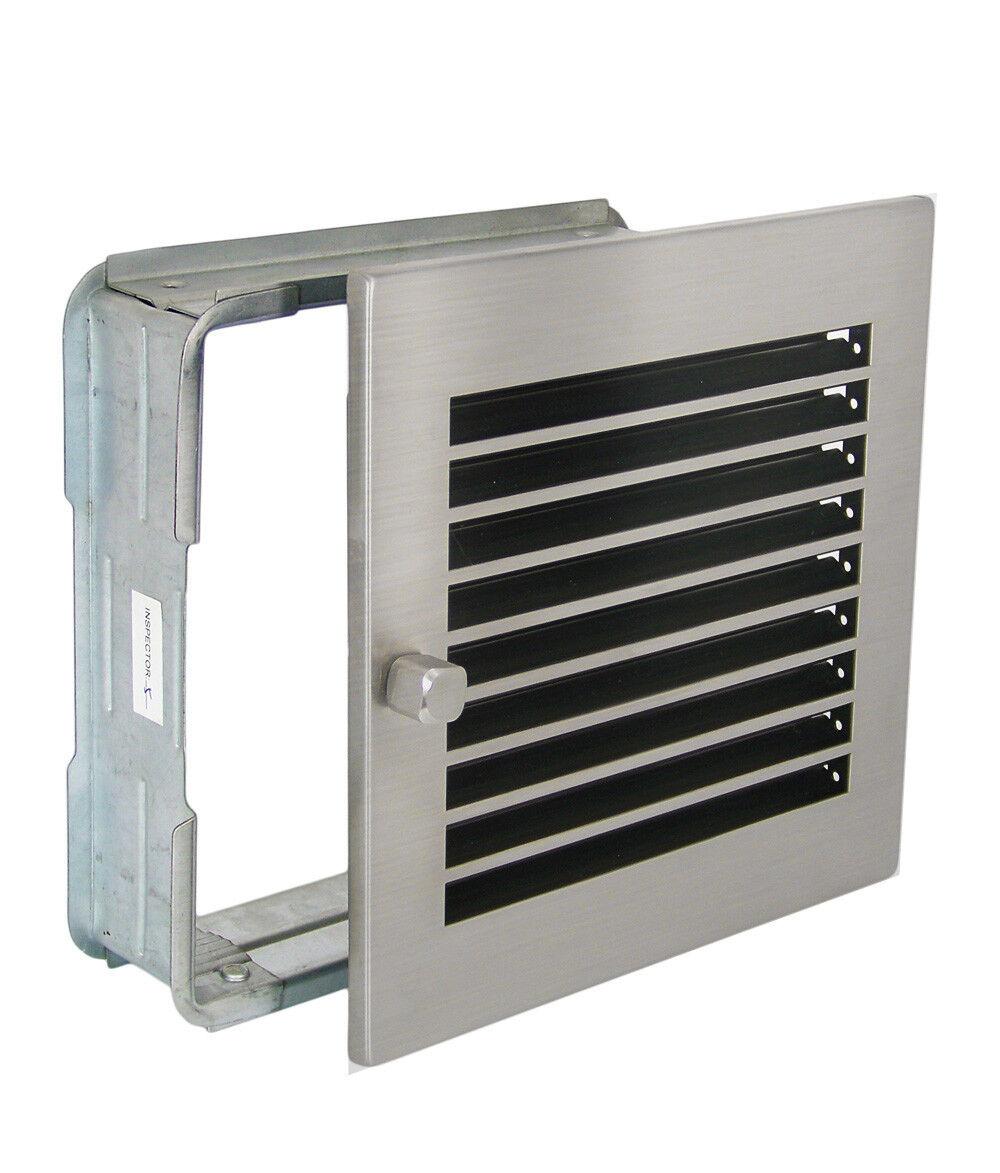Warmluftgitter WG 2323 MESM mit Edelstahl matt Blende 230x230mm mit Einbaurahmen