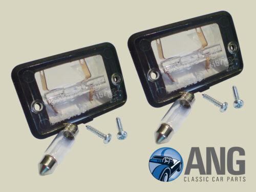XJ40 /'86-/'94 REAR NUMBER PLATE LAMPS JAGUAR XJ6 SCREWS BULBS /& GASKETS x 2