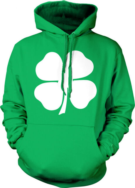 Four Leaf Clover Distressed Irish St Patrick/'s Day Mens Hoodie Sweatshirt