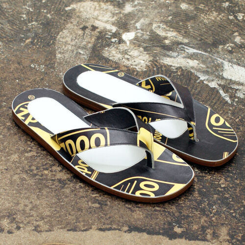 NEW Maison Martin Margiela Black & Yellow Flip Flops GENUINE RRP 270 BNIB