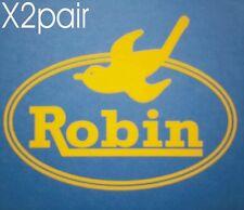 SUBARU IMPREZA ROBIN WRC SPONSOR STICKERS X2 PAIR