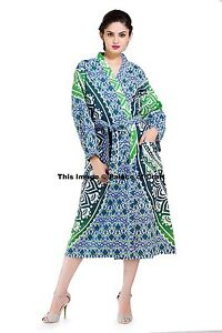 Image is loading Indian-Cotton-Ombre-Mandala-Bath-Robes-Evening-Gown- bdd207090