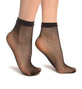 Ladies Hosiery Fishnet Ankle Knee High Socks Spring Summer Aurellie One Size