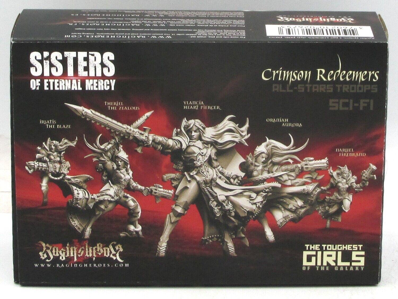 Raging Heroes 26753 Crimson Redeemers All-Stars Troops (Sci-Fi) Female Crusaders