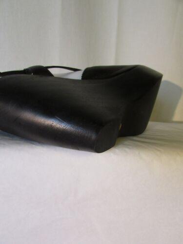 Sandali 39 Metallo Pelle Sartore Nero Zeppa Con E rWZCpaqrw