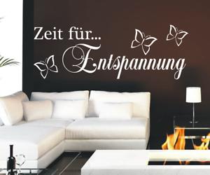 X8106 Spruch Zeit für Entspannung Sticker Wandbild Wandaufkleber Wellness Bad