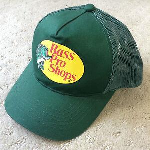 e4ed8bfd0c3 Bass Pro Shops Logo Green Snapback Mesh Trucker Hat Cap Baseball ...