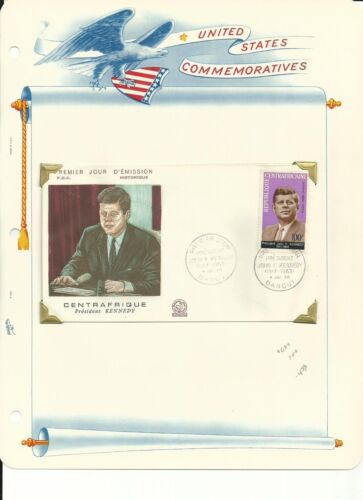 Central Africa Collection, John F. Kennedy, #C24, C24a, Sheet, Stamp, FDC
