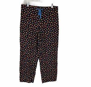 Vera Bradley Paisley Printed Corduroy Pajama Lounge Pants Multi Color Medium M