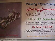 Harley Davidson VRSCA v Rod Distribuidor cartel impresión gigante utilizado para promoción de lanzamiento