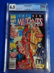 CGC-Comic-graded-6-5-New-Mutants-Marvel-98-1st-DEADPOOL-HOT-Key-issue