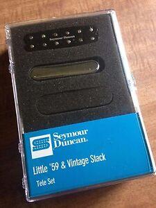 Seymour Duncan Little 59 /& STK-T1n Vintage Stack Tele Set FREE FENDER 18FT