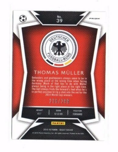 Cartes de football Collections ,299!!! Thomas Müller 2015