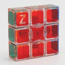 Z-cube 1x3x3 Magic Cube Jigsaw Twist Puzzle Kids Fancy Toys Transparent glossy