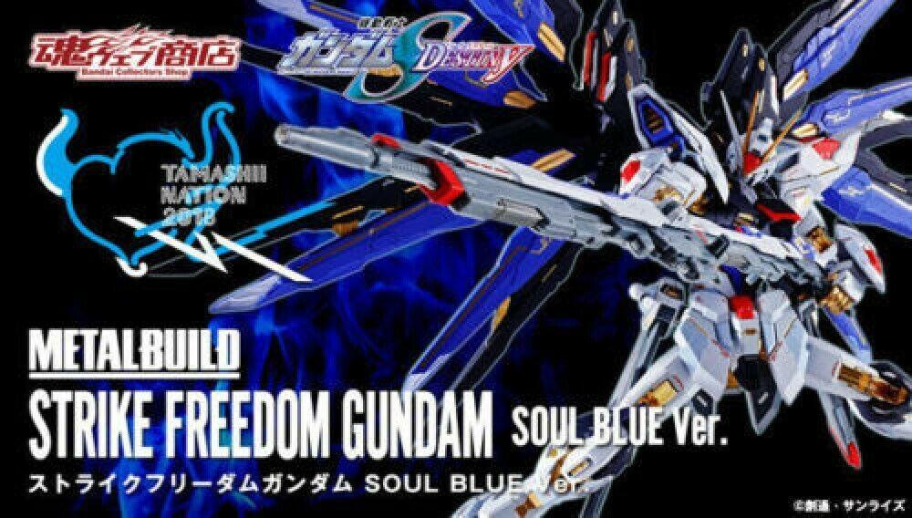 BeAI Tamashii  NATION 2018 METAL BUILD Strike gratuitodom Gundam SOUL blu Ver F S  tutto in alta qualità e prezzo basso