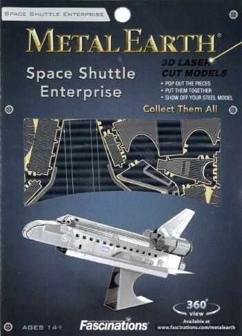 Space Shuttle Enterprise Metal Earth 3D Model Kit FASCINATIONS