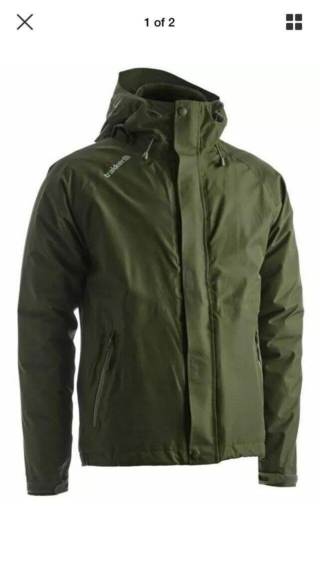 Trakker sommet XP Veste imperméable à capuche Manteau de pêche taille XL