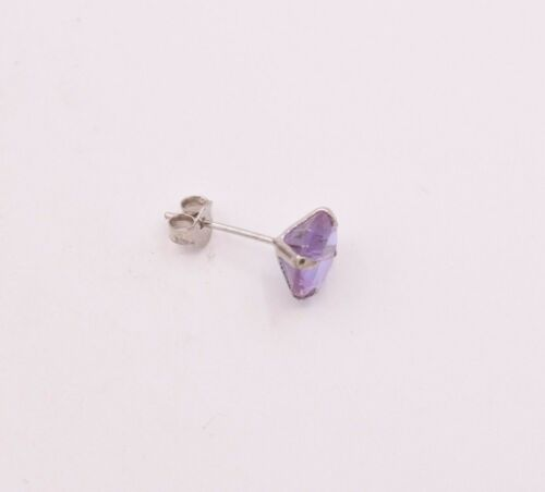 February Birthstone Purple Amethyst Stud Earrings 6mm 1.50 cttw in 925 Silver