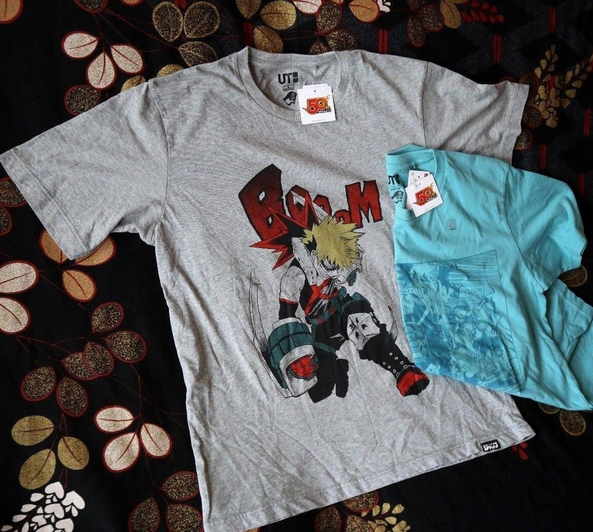 MY HERO ACADEMIA X UNIQLO Shonen Jump 50th T Shirts BAKUGOU XL L Sold Out Rare