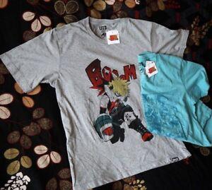 604517a06 MY HERO ACADEMIA X UNIQLO Shonen Jump 50th T Shirts BAKUGOU XL L ...