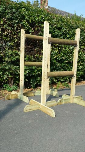 Two Pairs of 152cm Show Jump Training Wings with 4 pairs Jump Cups 5ft
