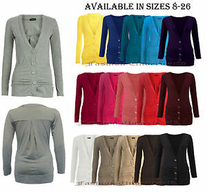 Womens-Ladies-Button-Up-Boyfriend-Cardigan-Top-Long-Sleeve-Cardigan-Jumper-8-26