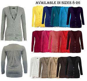830734e080 Womens Ladies Button Up Boyfriend Cardigan Top Long Sleeve Cardigan ...