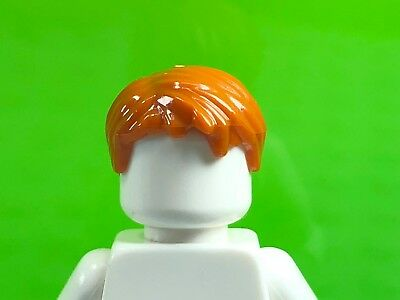 Hair Short Tousled with Side Part NEW LEGO x 10 Black Minifig