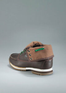e9ab62ed5d4c86 NEW Boy s Lacoste Brown Green Moray SPJ Leather Hi-Cut Canvas UK ...