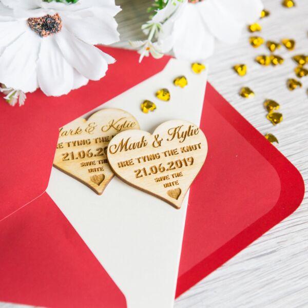 A5 Personalizado De Boda Save The Date Tarjetas /& Sobres Vintage Marrón//Blanco
