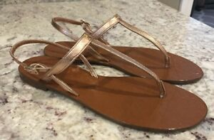 af069dea5584 NWT Kate Spade New York Women s Citrine Gold Bronze T-Strap Sandals ...
