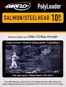 Airflo-PolyLeader-10-FT-Salmon-Steelhead-ALL-SINK-RATES-FREE-SHIP-OPTIONS