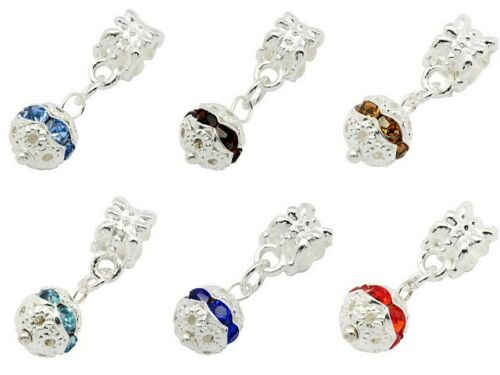 lady-muck1 A Pack of Kumihimo Slide Bead Bails with Lovely Crystal Ball Dangle