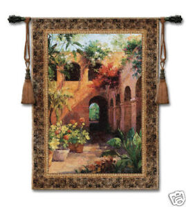 Camino Hermosa Ii Tapestry Wall Hanging Courtyard View 53 X40 Ebay