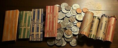 6 of each: Nickel, Dime, Quarter and 7 penny 25 Coin Wrappers or custom mix!