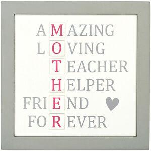 Placa de madera mamá Loving increíble regalo de Día de las madres presentes Casa Signo Madre Mummy
